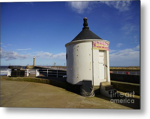 Whitby Yorkshire Metal Print featuring the photograph Welcome To Whitby by Smart Aviation