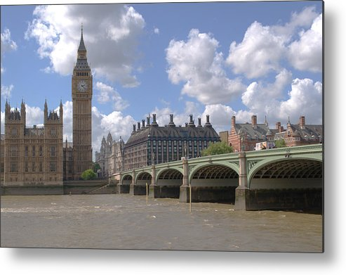 Big Ben Metal Print featuring the photograph Westminster Bridge by Chris Day