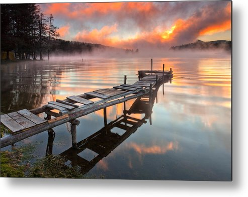 Mountain Metal Print featuring the photograph When The Fishermen Go Away by Evgeni Dinev
