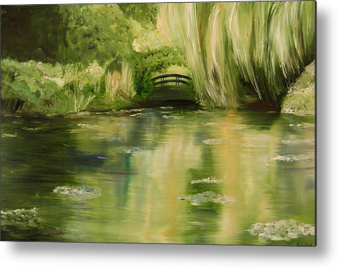 Konkol Metal Print featuring the painting Willow At Monet by Lisa Konkol