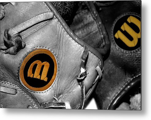 Baseball Metal Print featuring the photograph Wilson 2 by Jame Hayes