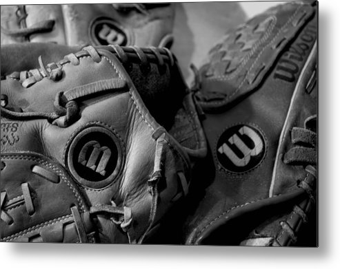 Baseball Metal Print featuring the photograph Wilson 3 by Jame Hayes