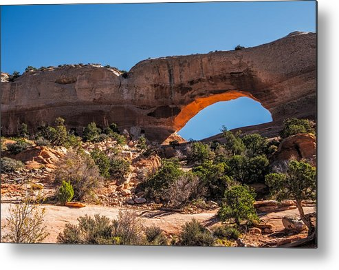 Wilson Arch Metal Print featuring the photograph Wilson Arch by Paul Freidlund