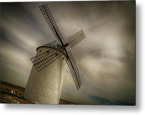 Campo De Criptana Metal Print featuring the photograph Windmills At Campo De Criptana by Pablo Lopez