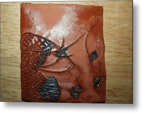 Jesus Metal Print featuring the ceramic art Windswept- Tile by Gloria Ssali