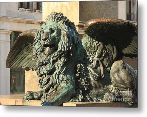 Venice Metal Print featuring the photograph Winged Lion In Venice by Michael Henderson