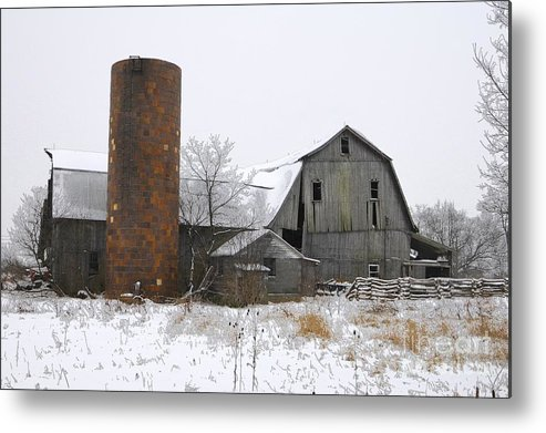 Barn Metal Print featuring the photograph Winter Barn V by Frank Muller