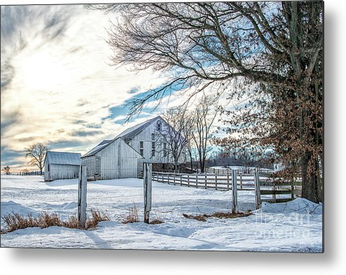 Snow Metal Print featuring the photograph Winter Farm by Craig Leaper
