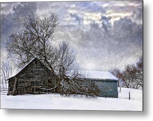 Winter Metal Print featuring the photograph Winter Farm by Steve Harrington