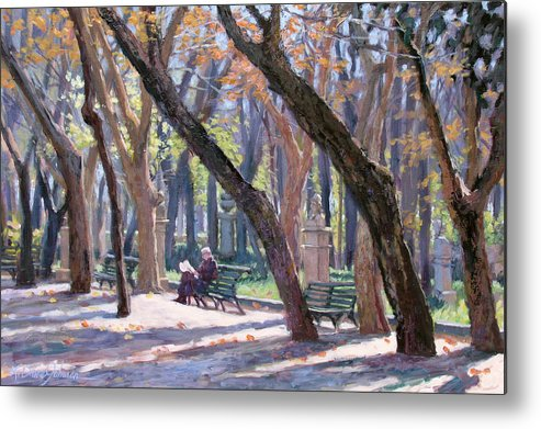 Rome Metal Print featuring the painting Winter In Rome by L Diane Johnson