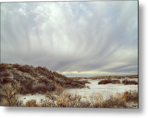 Landscapes Metal Print featuring the photograph Winter Storm Clouds 2018-2289 by Karen W Meyer
