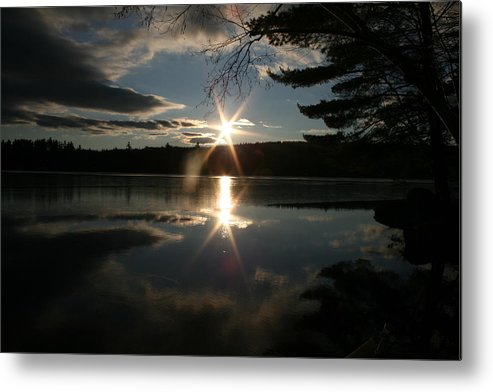 Maine Metal Print featuring the photograph Winter Sunset by Jeff Porter