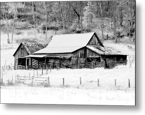 Barn Metal Print featuring the photograph Winter's White Shroud by Tom Mc Nemar