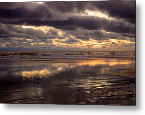 Landscapes Metal Print featuring the photograph Wispy Waves by Jennifer Owen