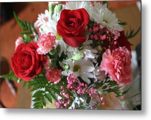 Bouquet Metal Print featuring the photograph With Love by Living Color Photography Lorraine Lynch