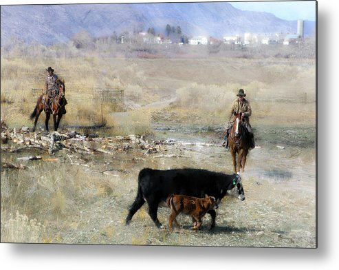 Cowboy Metal Print featuring the photograph Wrangling # 92 by Ed Hall