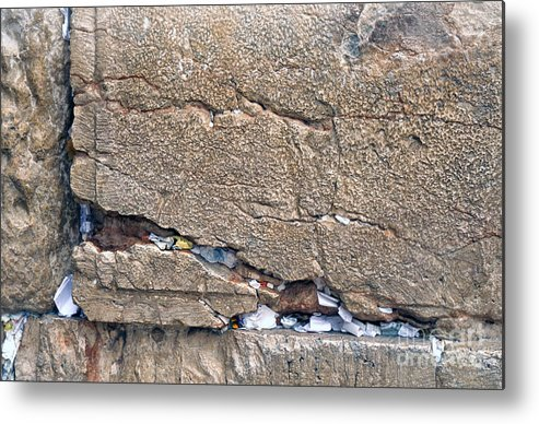 Israel Metal Print featuring the photograph Written Prayers Western Wall by Thomas R Fletcher