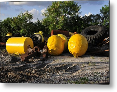 Yellow Metal Print featuring the photograph Yellow by David Lee Thompson
