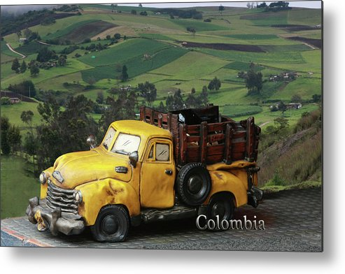 Colombia Metal Print featuring the photograph Yellow Pick-up Truck by Luis Aguirre
