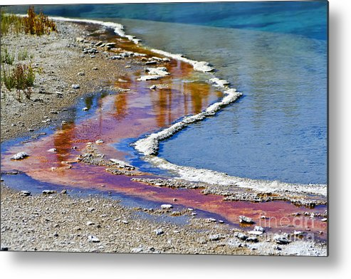Colorful Metal Print featuring the photograph Yellowstone Abstract I by Teresa Zieba