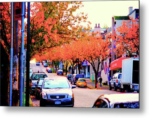 Yew Metal Print featuring the photograph Yew Street Autumn by Paul Kloschinsky