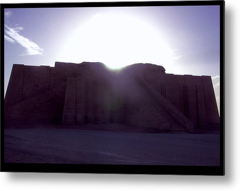 Ur Metal Print featuring the photograph Ziggurat Of Ur by Eric Nelson