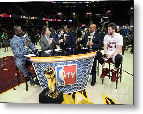 Playoffs Metal Print featuring the photograph 2017 Nba Finals - Game Four by Joe Murphy