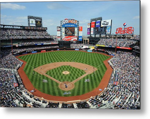 Citi Field Metal Print featuring the photograph Milwaukee Brewers V New York Mets by Rich Pilling