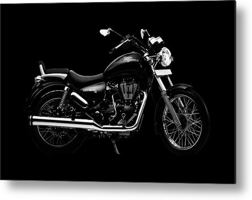 Royal Enfield Metal Print featuring the mixed media Royal Enfield Thunderbird 500 by Smart Aviation