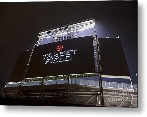 American League Baseball Metal Print featuring the photograph Target Field Previews by Wayne Kryduba