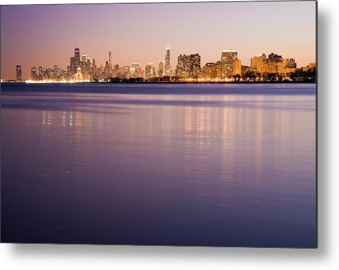 Lake Michigan Metal Print featuring the photograph Usa, Illinois, Chicago, City Skyline by Henryk Sadura