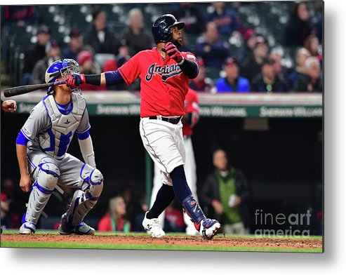 People Metal Print featuring the photograph Toronto Blue Jays V Cleveland Indians 10 by Jason Miller