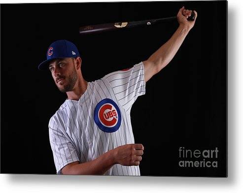 Media Day Metal Print featuring the photograph Chicago Cubs Photo Day 12 by Gregory Shamus