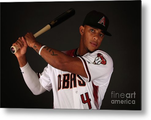 Media Day Metal Print featuring the photograph Arizona Diamondbacks Photo Day by Christian Petersen