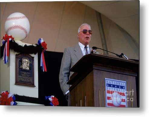 Cooperstown Metal Print featuring the photograph 1995 Cooperstown Hall Of Fame Inductions by Rich Pilling