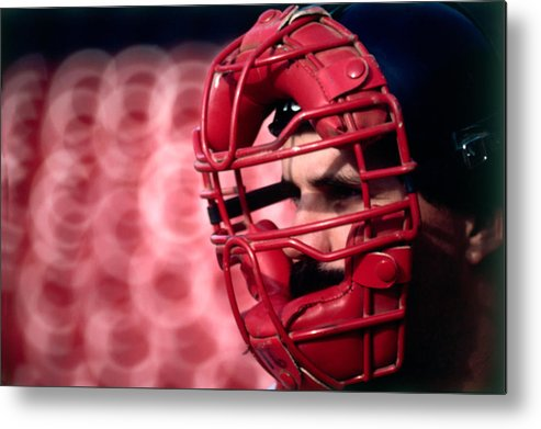 1980-1989 Metal Print featuring the photograph Cleveland Indians by Ronald C. Modra/sports Imagery