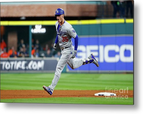 People Metal Print featuring the photograph World Series - Los Angeles Dodgers V 2 by Jamie Squire