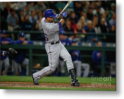 Second Inning Metal Print featuring the photograph Texas Rangers V Seattle Mariners 23 by Otto Greule Jr