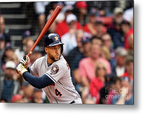 People Metal Print featuring the photograph Houston Astros V Boston Red Sox 3 by Billie Weiss/boston Red Sox