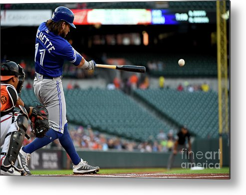 People Metal Print featuring the photograph Toronto Blue Jays V Baltimore Orioles by Will Newton