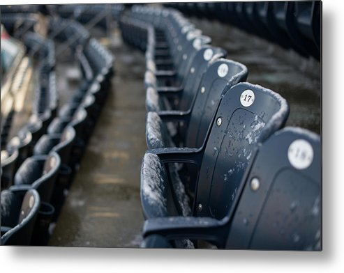 American League Baseball Metal Print featuring the photograph Chicago Cubs V. New York Yankees by Rob Tringali