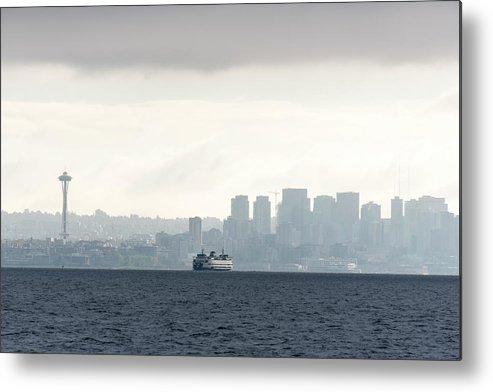 Admiralty Inlet Metal Print featuring the photograph Usa, Washington State, Seattle by Trish Drury