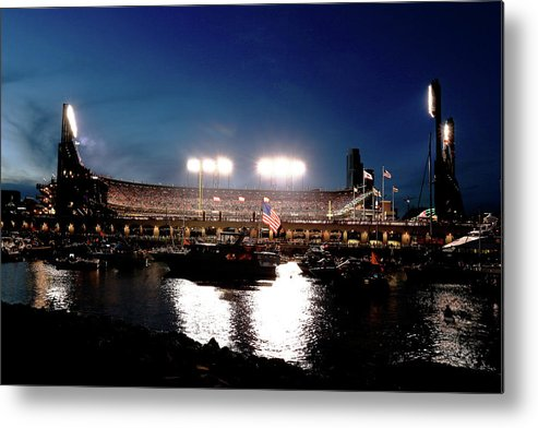 San Francisco Metal Print featuring the photograph World Series - Kansas City Royals V San by Rob Carr