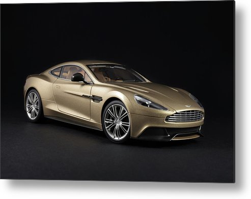 Aston Martin Metal Print featuring the photograph Aston Martin Vanquish by Evgeny Rivkin