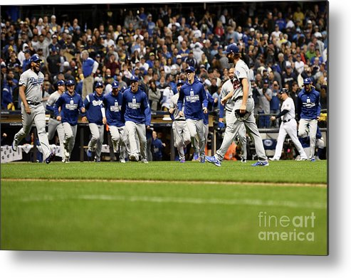 American League Baseball Metal Print featuring the photograph League Championship Series - Los 5 by Stacy Revere