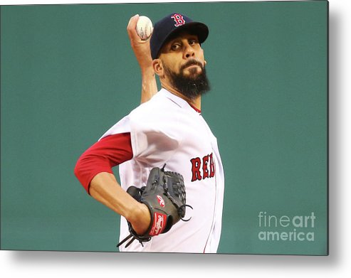 David Price Metal Print featuring the photograph Tampa Bay Rays V Boston Red Sox 5 by Adam Glanzman