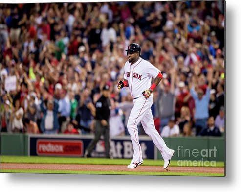 People Metal Print featuring the photograph Baltimore Orioles V Boston Red Sox 6 by Billie Weiss/boston Red Sox