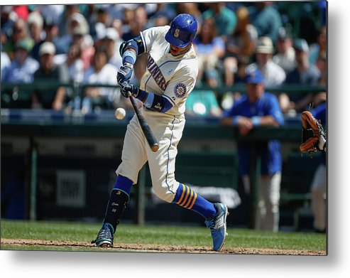 People Metal Print featuring the photograph Houston Astros V Seattle Mariners by Otto Greule Jr