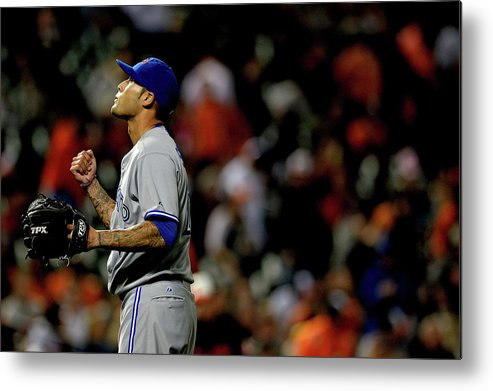 American League Baseball Metal Print featuring the photograph Toronto Blue Jays V Baltimore Orioles 6 by Patrick Smith