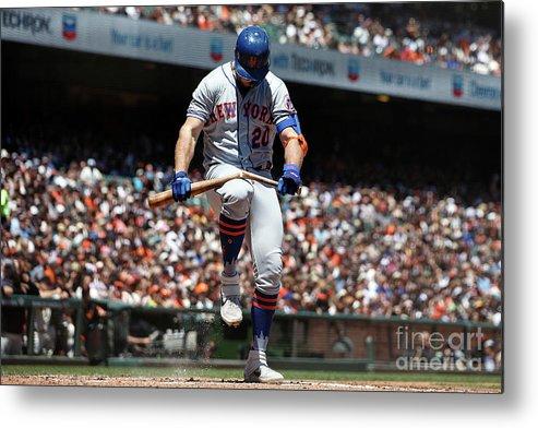 San Francisco Metal Print featuring the photograph New York Mets V San Francisco Giants by Jason O. Watson